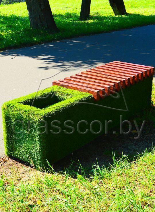 Скамья (декоративный газон)